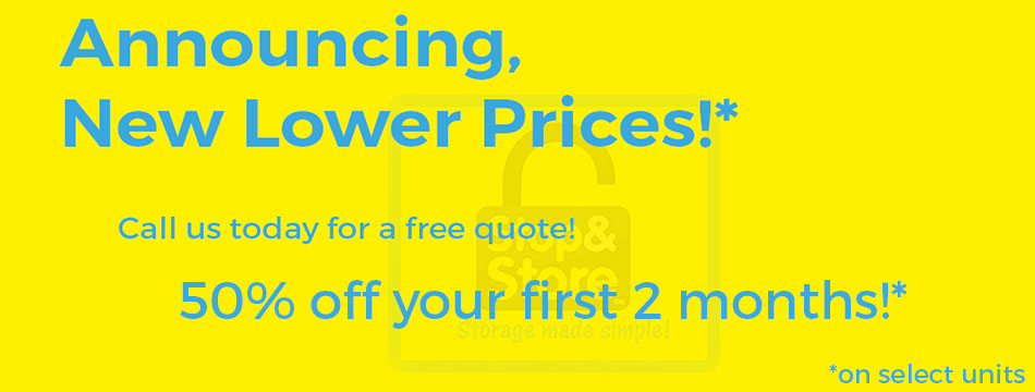 lower prices, storage units, promotion