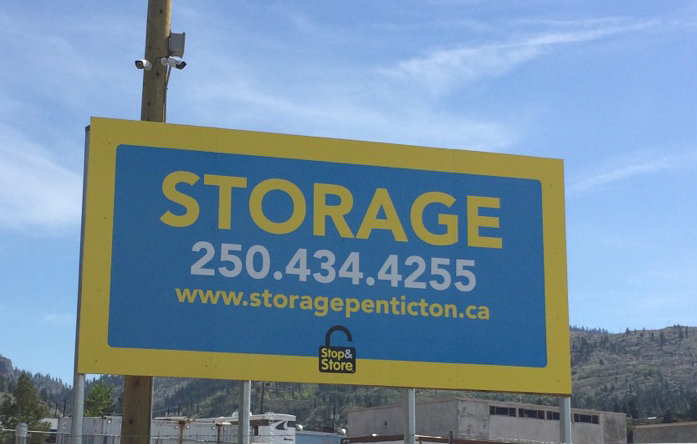 storage penticton, sign, phone number