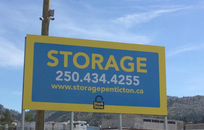 storage penticton, sign, phone number