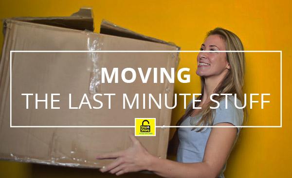 moving, girl, box