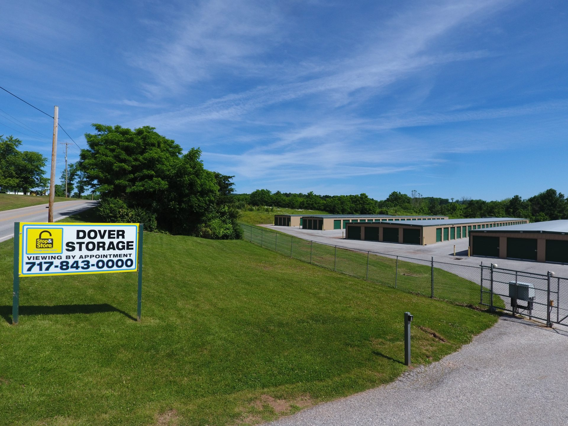 dover storage, front, entrance, hill