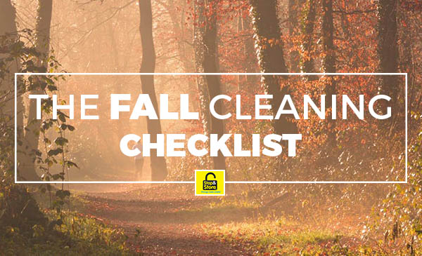 fall cleaning, checklist
