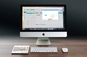 desktop, apple, mouse
