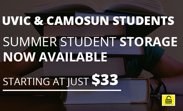 student storage, students, uvic, camosun, deals