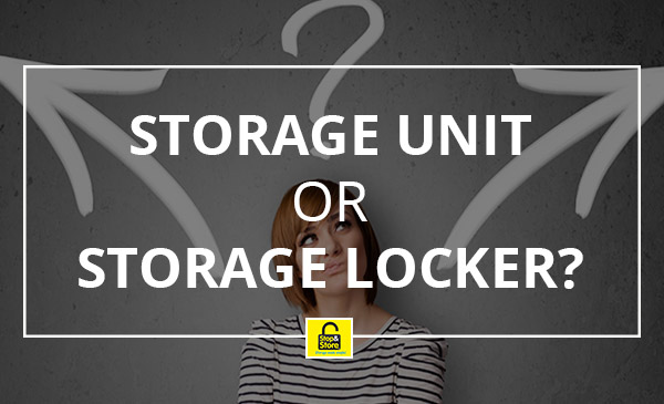 storage locker, unit, choices