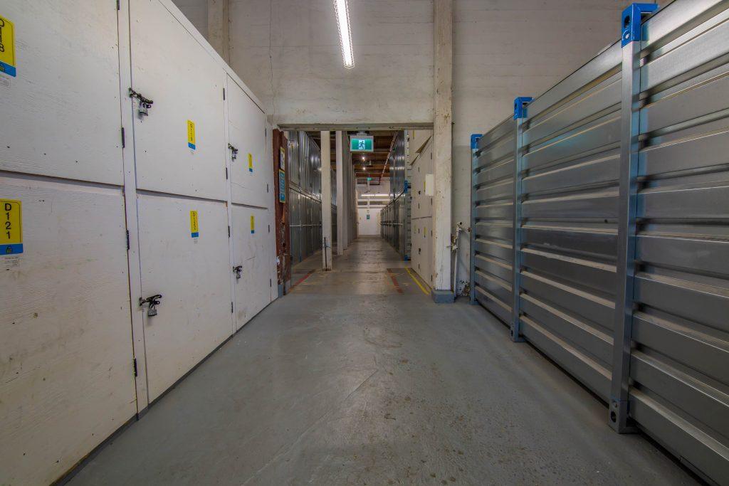 storage units, hallways