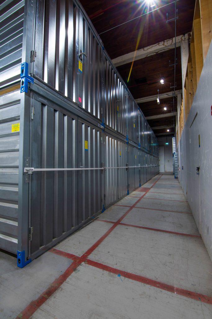 storage units, hallway