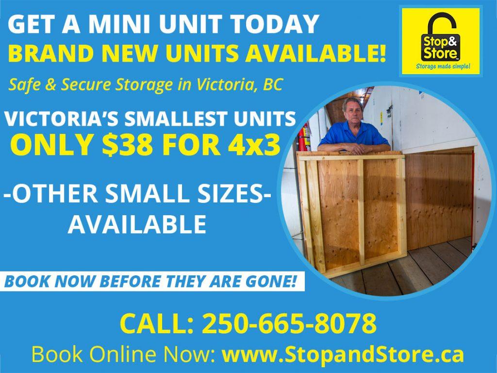 storage units, victoria, mini units, cheap, small